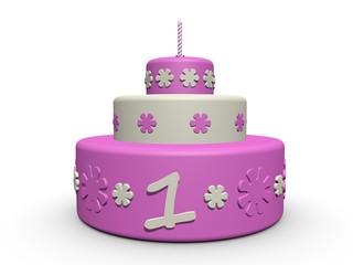 verjaardag taart meisje 1 jaar