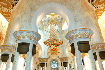 Sheikh Zayed Grand Mosque interior, Abu Dhabi, UAE