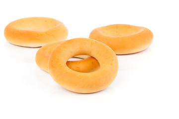 Russian or Ukrainian donut (Bublik), On White Background