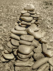 zen stones at the beach....