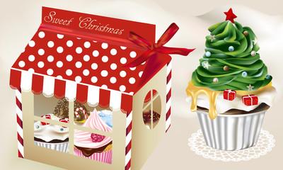 """Sweet Christmas"" cupcake box"