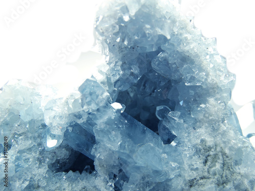 Foto op Canvas Edelsteen celestite geode geological crystals