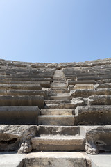 The ruins of  ancient Roman amphitheatre in Side. Turke