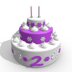 Verjaardag cake voor meisje van 2 jaar