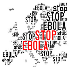Stop ebola in Europe concept