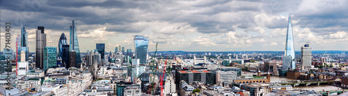 Leinwandbild Motiv The City of London Panorama