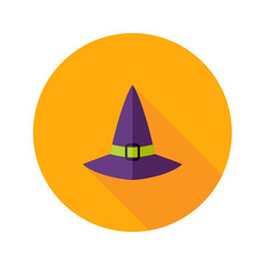 Halloween Witch Hat Flat Icon