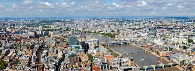 River Thames Panorama over London Landmarks