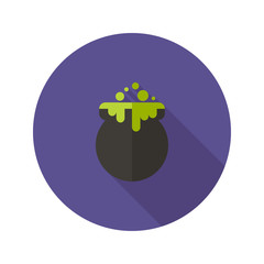 Halloween Witch Pot Flat Icon
