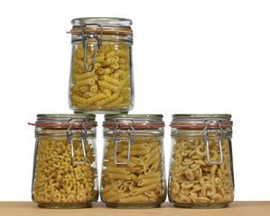 jars with italian pasta