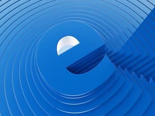 ''E'' internet concept