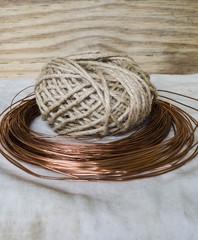 twine and copper wire