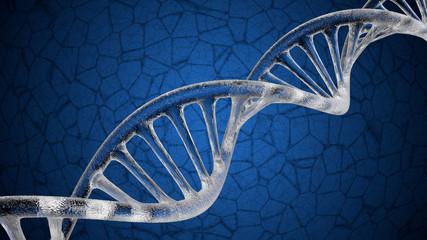 DNA - Crystal & Dark Cerulean