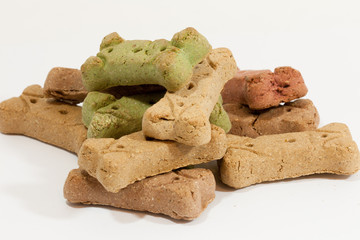 Colorful dog treats