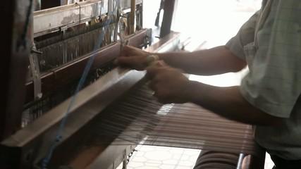Fabric weaving with handloom, Antakya, Turkey