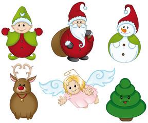 Weihnachtsfiguren Set Sammlung Kollektion