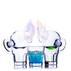 Burning cocktail