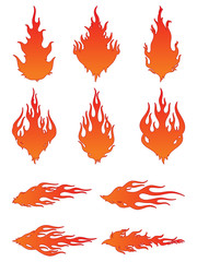 Set of Vector Fire Icons