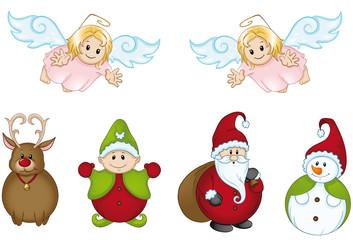 lustige Weihnachtsfiguren