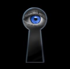 Auge durch Schlüsselloch
