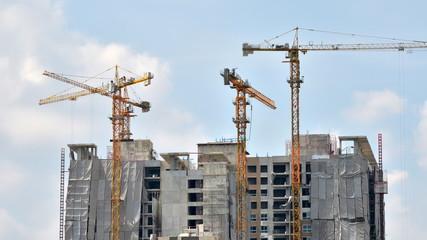 Building Under Construction in Bangkok, Thailand, Timelapse vide
