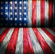 USA style background - empty wooden room for display montages - 71407625