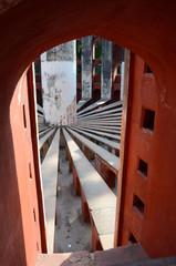 Inside Jantar Mantar complex- medieval observatory, Delhi,India