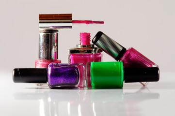 Set di smalto per unghie colorati, makeup mani e corpo