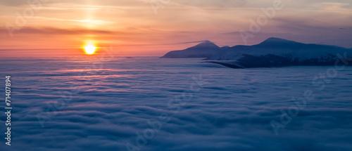 Mountain above the clouds © DmytroKos