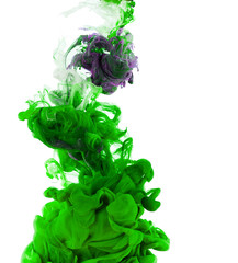 Green ink isolated on white background
