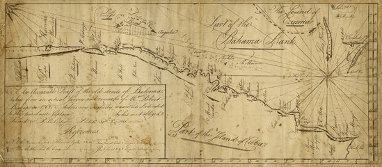 Old naval map