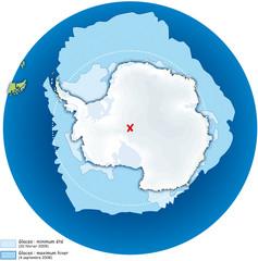 Pôles - Antarctique 3 - Extension des glaces