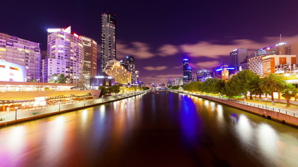 Timelapse video of Melbourne at night