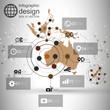 Australia map background vector, infographic design illustration