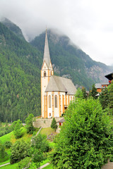 Church of Heiligenblut near the Grossglockner High Alpine Road