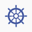 Ship Wheel Banner isolated on white background. - 71412454