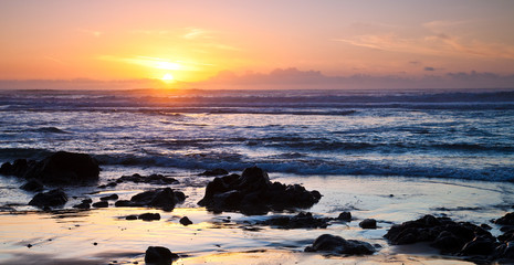 Ocean Sunset at Point Reyes in California