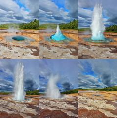 Fountain Geyser throws hot water
