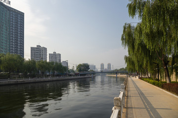 Beijing. City landscape with the river
