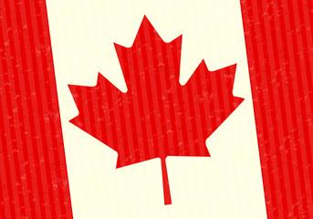 Canada flag close up