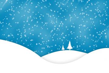 Christmas winter scene background