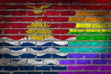 Dark brick wall - LGBT rights - Kiribati