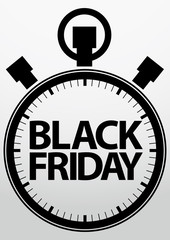Black fridaystopwatch icon, vector illustration