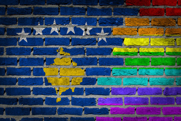 Dark brick wall - LGBT rights - Kosovo