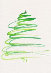 Abstrakt gemalter Weihnachtsbaum
