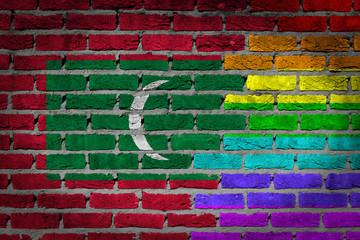 Dark brick wall - LGBT rights - Maldives