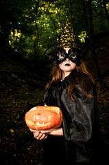Pretty vich with pumpkin