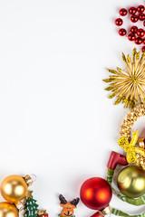 abstarct Christmas symbols on white background