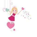 Fototapety Cute love fairy tale
