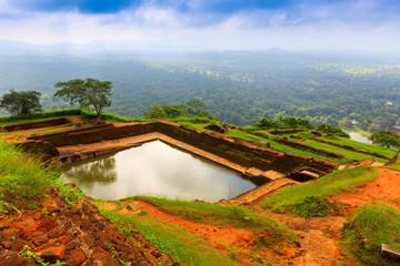 pool in Sigiriya. Sri Lanka